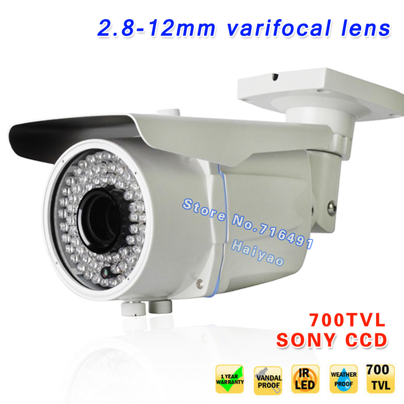 New 700TVL EFFIO E SONY Exview CCD Varifocal Lens Outdoor CCTV Camera 2 8 12mm Lens