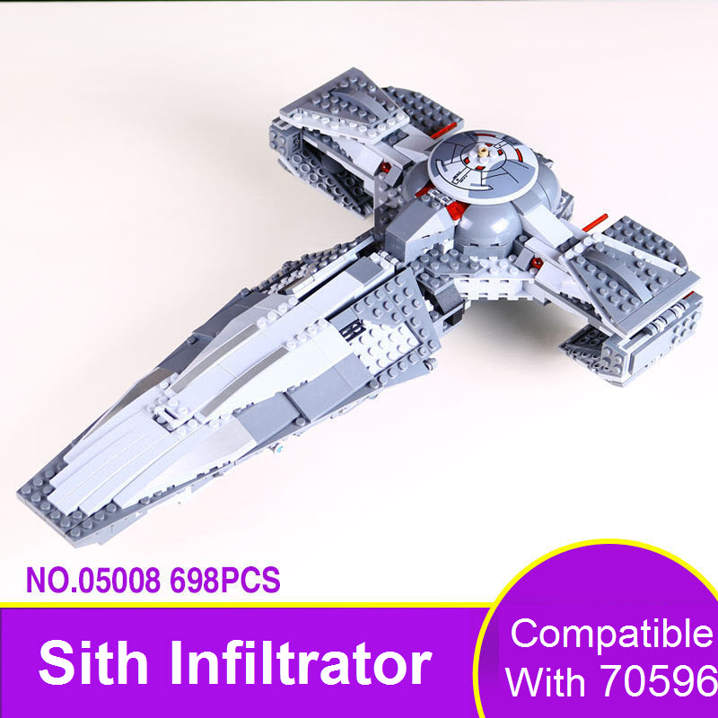 2017 LEPIN 05008 698Pcs Star Wars The Force Awakens Sith Infiltrator Model Building Blocks Bricks Compatible 70596 Toys For Kids 84pcs star wars the force awakens jakku rey star general minifigure building blocks model bricks toys compatible legoe 75113