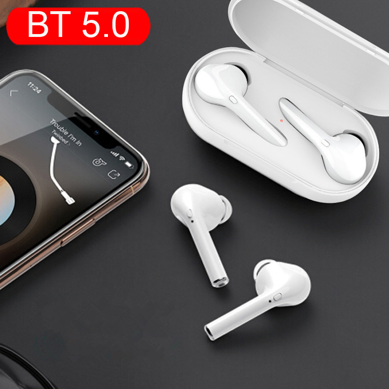 Bluetooth 5.0 Earphones Binaural Call Mini Wireless Earbuds Waterproof Headset Headphones For Iphone Xiaomi PK I10 I12 I30 I60