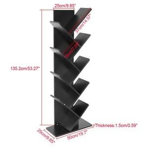 Image 3 - Modern 9 Tier Bookshelf Bookcase Books CDs Display Storage Rack Shelf Organization Cabinet