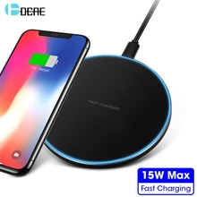 15W Fast Charging Wireless Charger For iPhone Xs Max XR X 8 Plus Samsung S9 S10 10W Qi Pad Phone