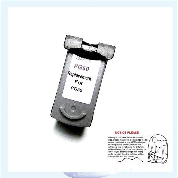 YOTAT CARTUCCIA 1pcs BK cartuccia di inchiostro Rigenerata PG50 PG-50 per Canon PIXMA IP2200 MX308 MX318 MP170 MP150 MP450 MP460 MP160 MP180