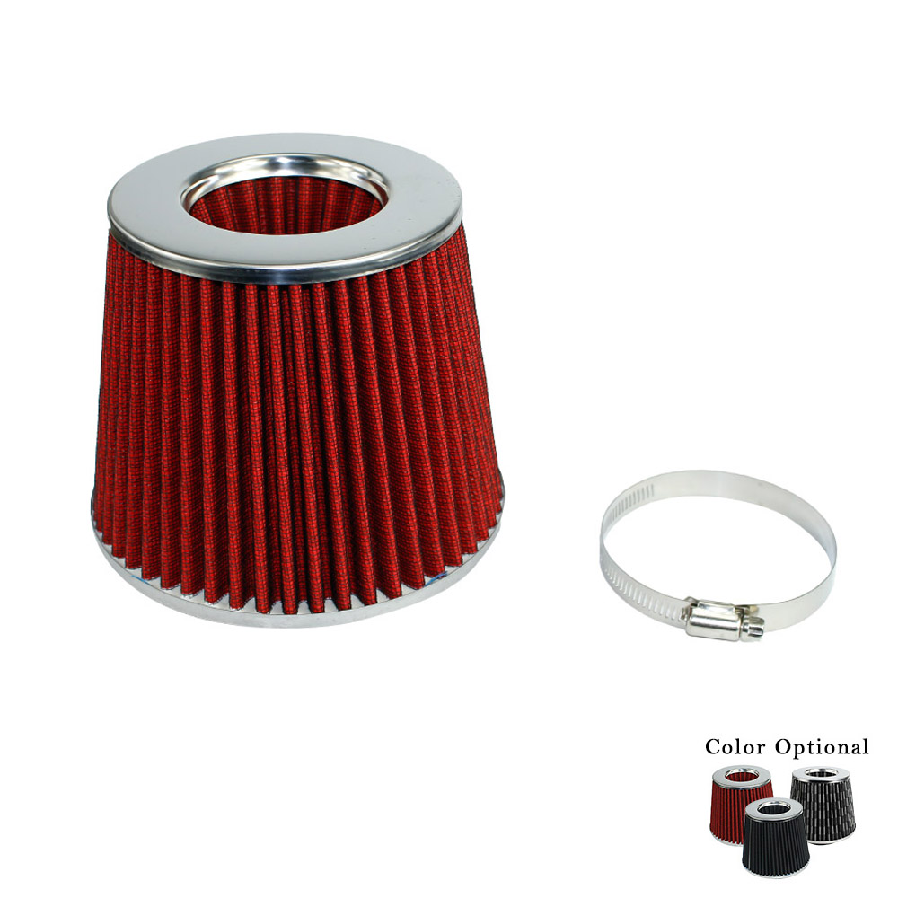 CNSPEED Racing Universal Air Filter 3 inch 76mm Air Intake Filter Height High Flow Cone Cold Air Intake Performance TT100926 f007 vacuum pump intake air filter assembly fan air filter assembly interface 3 inch wire height 258mm outside diameter 222mm