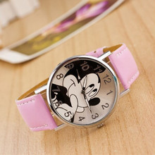 Multiple Colour leather watch band Mickey Student W
