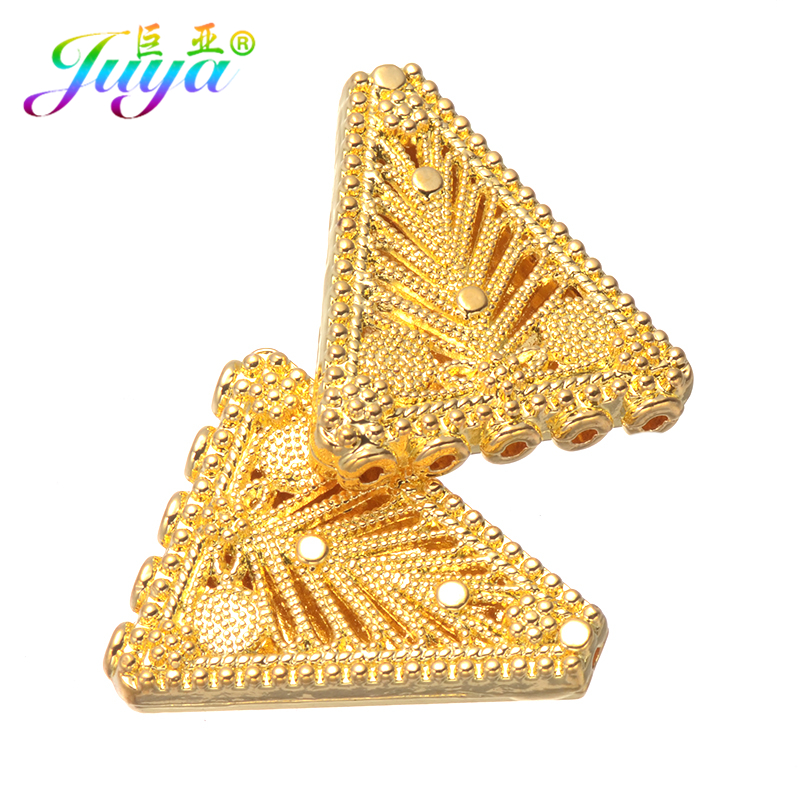 DIY Beading Jewelry Components Gold Separator Connector Accessories For Women Natural Stones Pearls Beadwork Jewelry Making