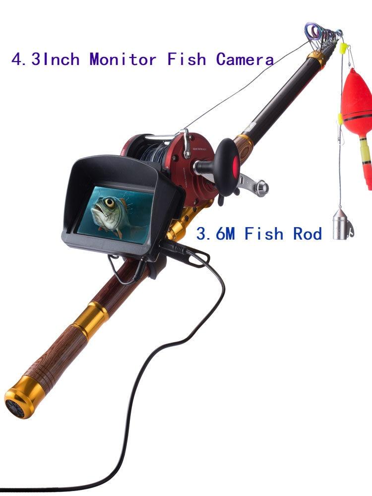 PDDHKK 4,3 zoll Fisch Kamera 3,6 M Fisch Stange Unterwasser Fisch Finder 8MP Auflösung Objektiv 30M Kabel Angeln Video kamera Eis Meer Fisch