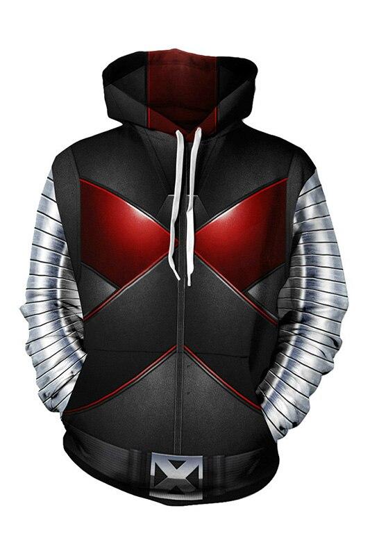 Deadpool Hoodie Wade Winston Wilson Cosplay Hoodie 3D Print Sweatshirt Zipper Hooded Hoodie Sweatshirt Jackets