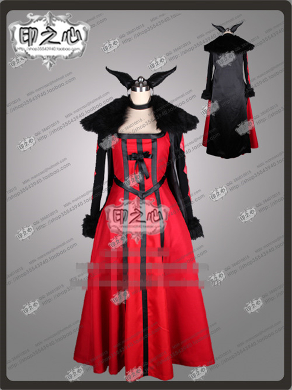 Custom Made Anime Maoyuu Maou Yuusha Demon King Queen Fashion Uniform Cosplay Costume Dress+Coat