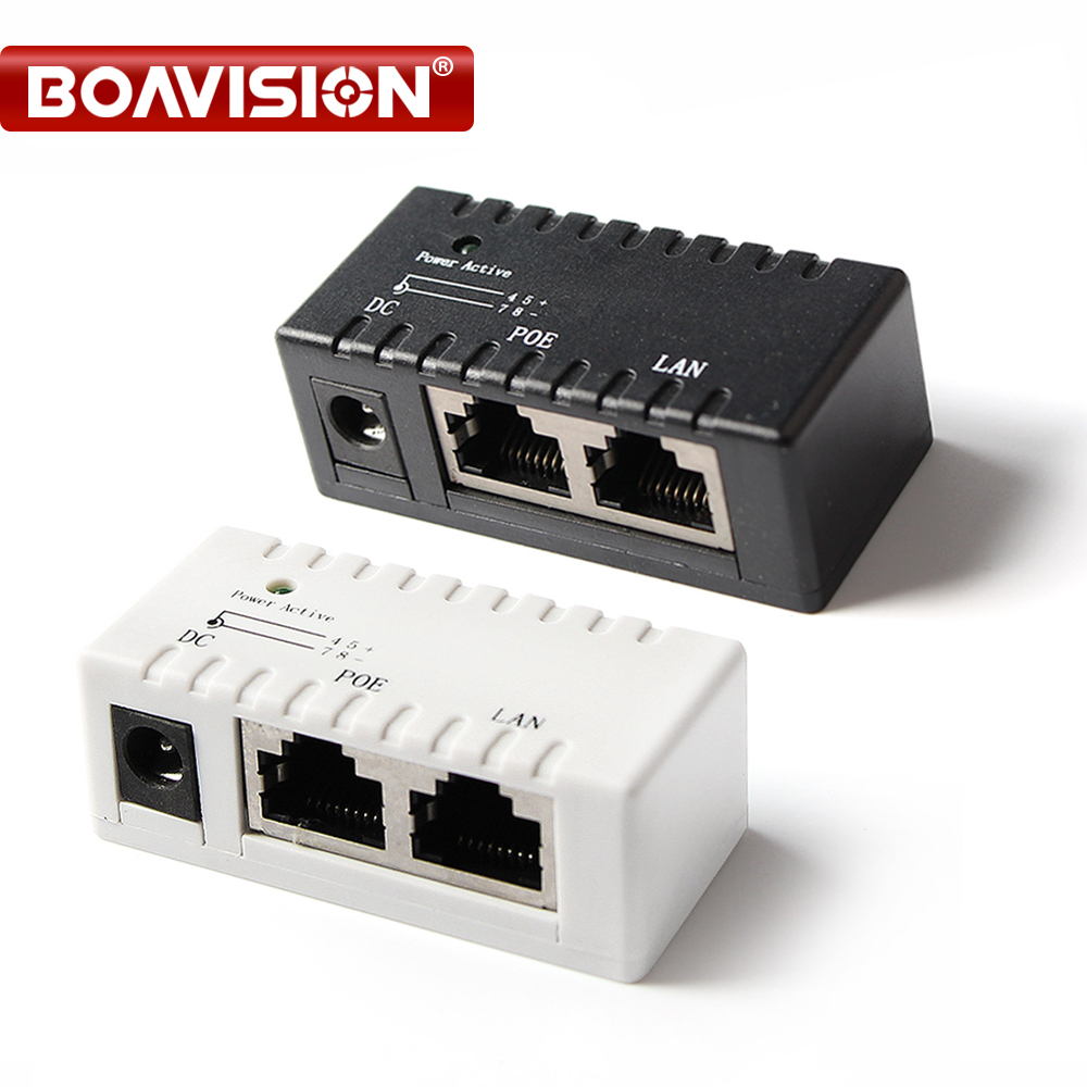 PoE Splitter PoE Injector RJ45 DC 5.5mm*2.1mm Input Passive PoE Inject Spliiter Adapter Connector For IP Network Camera
