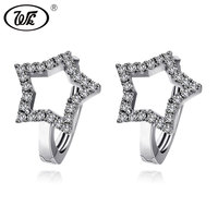 WK Anti Allergy 925 Sterling Silver Simple Small Star Ear Clip On Earrings Womens Earcuff Earring Fine Jewelry Brinco W6 ED022