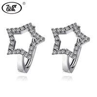 WK Anti Allergy 925 Sterling Silver Simple Small Star Ear Clip On Earrings Womens Earcuff Earring Fine Jewelry Brinco W6 ED022