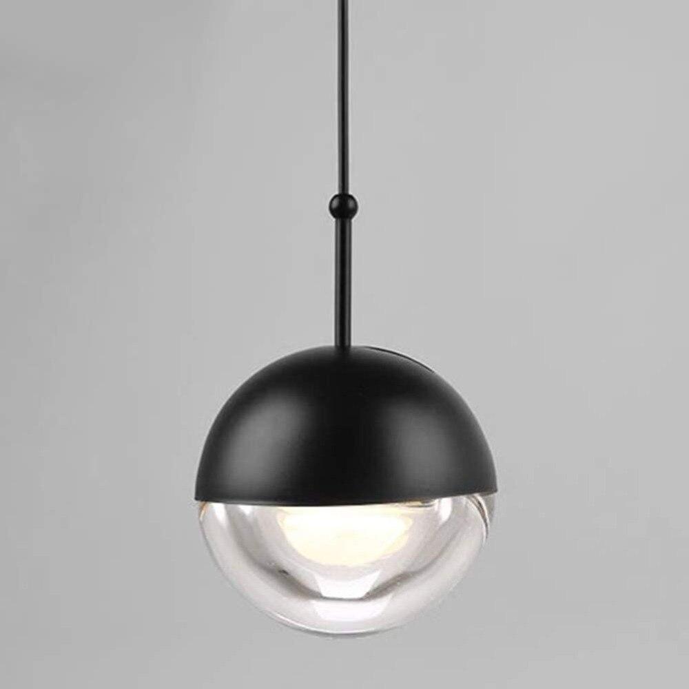 Globe Glass Hanging Lamp, Crystal Ball Pendant Light for Dining Room, Corridor, Aisle, Staircase, Living Room, Bedroom