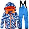 Professional Children S Skiing Suit Winter Outdoor Windproof Waterproof Boys Girls Thick Warm Suits Jacket Ski