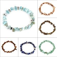 bracelet pierre naturelle edelsteen colorful Gem stone Bracelets Nuggets Bracelets Bangles Charm Natural Stone Bracelet Jewelry