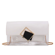 Women's Crossbody Bag Casual Transparent Jelly Laser Simple Fashion All-Match Bag(China)