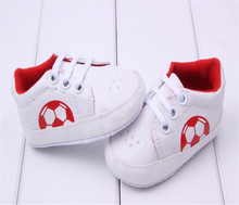 0~18 month white blue red color new born Baby first walker football Shoes boy girl  BX82