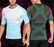 Masculino postura corrector compressão shaper controle busto corpo shaper topos homens emagrecimento peito cueca barriga abdômen camisa