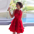 2017 Short Cocktail Party Dress Red Homecoming Dresses Off the SHoulder vestido de formatura Graduation Dress Free Shipping