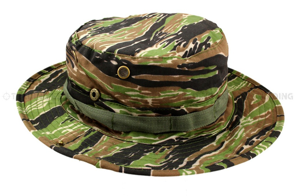 USMC Asian Tiger Stripe CAMO Boonie Hat (AT) 01427-in Bucket Hats ... 1951d1f8038