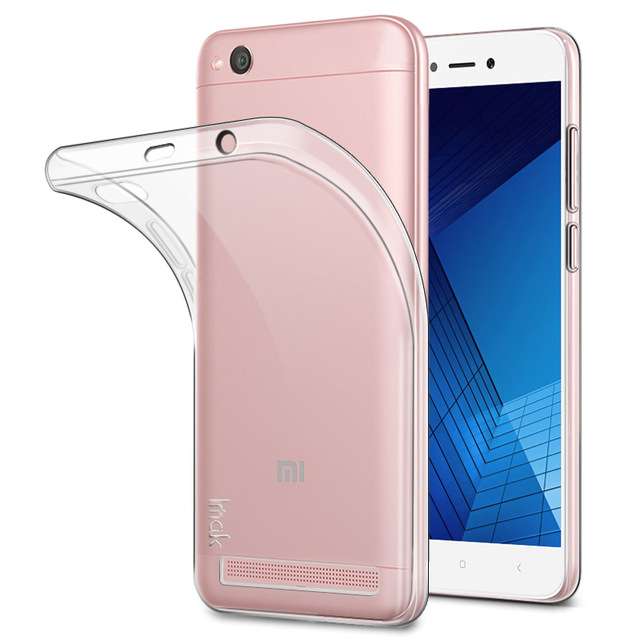 pretty nice f533d 1bea7 US $4.99 |Clear Soft Silicone Case For Xiaomi Redmi 5A Thin Transparent TPU  Back Cover for Xiomi Redmi 5A 5 A Free Screen Protector Film-in Fitted ...