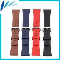 Genuine Leather Watch Band 22mm 24mm for Cartier Stainless Steel Pin Clasp Strap Wrist Loop Belt Bracelet Black Brown Blue Red