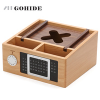At The Beginning Of The Heart Wood Desk Calendar Box Style Remote Storage Box Rack In