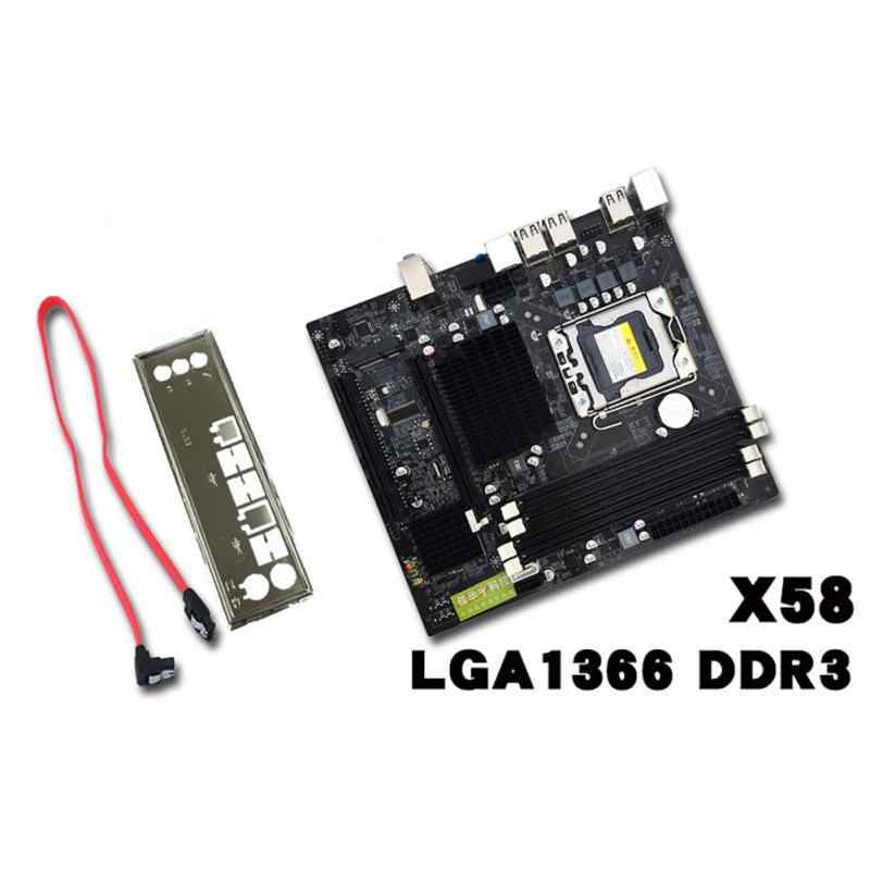 X58 LGA 1366 DDR3 настольная материнская плата компьютерная материнская плата для L/E5520 X5650 RECC для Intel Core i7 M-SATA 1333 МГц
