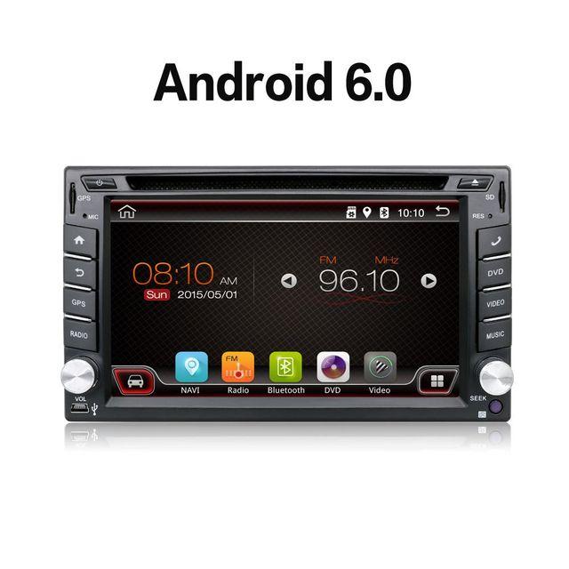 Авто Android 6.0 Автомобильная Электроника Gps-навигация 2DIN Автомобилей Стерео Радио Автомобильный GPS Bluetooth USB/Универсальный Сменный Плеер ТВ 8 Г КАРТА