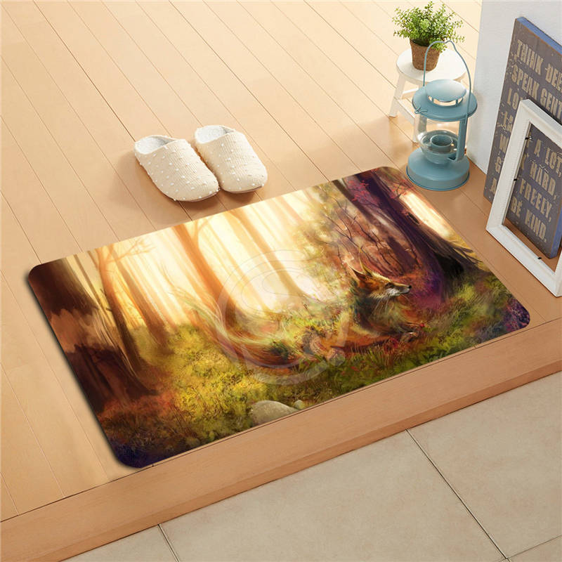 V 32 custom the fox doormat home decor door mat floor mat for Big w bathroom mats