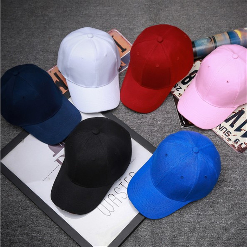 Unisex Fashion Solid Color   Baseball     Caps   Boys Girls Golf   Caps   For Sale