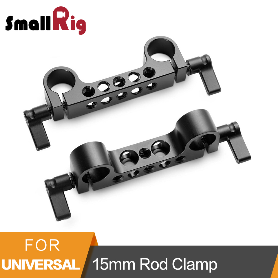 SmallRig Light Weight 15mm Railblock Rod Clamp with 1/4-20 Thread for Red and Other 15mm DSLR Camera Rig 2 Pcs - 2061