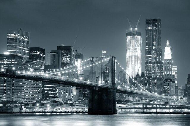 Mural Backlit Brooklyn Bridge Photo 3D Wallpaper 3d