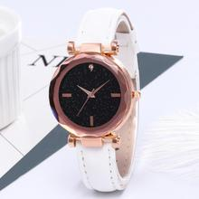 цены New Women Watches Minimalism Starry Sky Leather Buckle Wrist Watch Fashion Casual Female Quartz Wristwatch