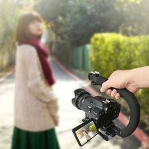 Image 4 - DV Hand Held C Shaped Shooting Video Stabilizer Hand held Low Frame Flash Stands Stabilizer