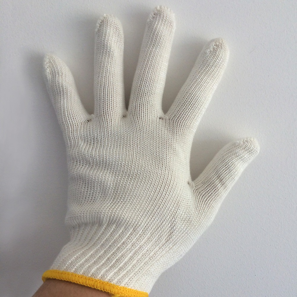 Leather work gloves lowes - Yuntab White Cotton Gloves Wear Resistant Work Gloves Against High Temperature And Low Temperature Protective