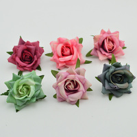 100pcs Slik roses Artificial flowers for christmas home wedding decor accessories fake plastic flower DIY wreath gift floristics