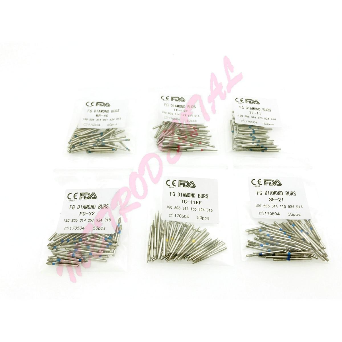 50pcs Dental  FG High Speed Diamond Burs for Polishing Dental Burs 1.6mm free shipping 6pcs box flywheel drilling burs jewellery bur tools suppliers diamond burs for polishing