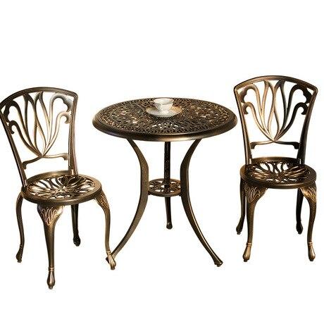 US $873.59 9% OFF Garden Set Outdoor Furniture garden furniture patio  furniture salon de jardin exterieur Cast aluminum 1 table+2 chairs set  sale-in ...