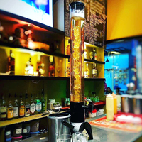 3 Liters Beer Tower Dispenser with Cast Iron Base and Ice Tube BT37