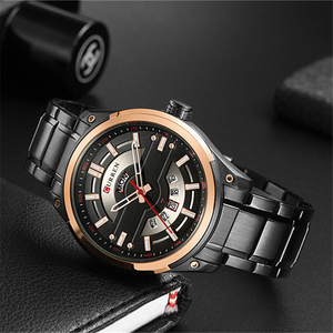 Image 3 - CURREN Watches Mens Stainless Steel Quartz Wristwatch With Calendar Casual Business Male Clock 30M Waterproof Relogio Masculino