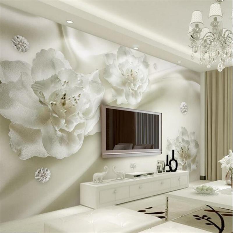 Beibehang Large Wallpaper Mural Custom Any Size Three: Beibehang Custom Any Size Of The Sitting Room Wall Murals