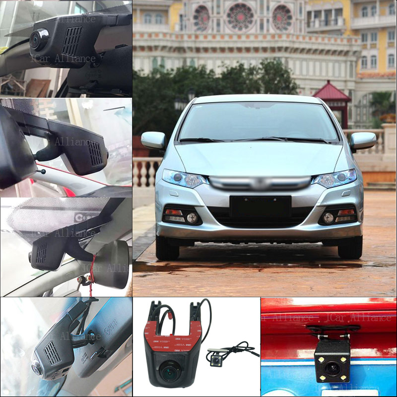 BigBigRoad For Honda INSIGHT Car Parking Camera APP control Car Wifi DVR Video Recorder Dual Camera Car Black Box dash Cam bigbigroad for toyota sequoia car parking camera app control car wifi dvr video recorder dual lens car black box camcorder