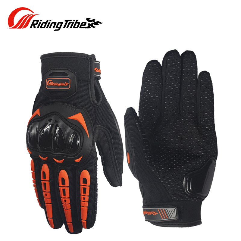 Riding Tribe Touch Screen Moto Gloves Breathable Durable Anticollison Bike Racing Non-skid Gloves Summer Black Green MCS-17