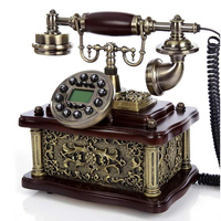 New Vintage Antique Landline fixed Telephones European Telefono Fijo For Home Office white gold mad of resin caller ID saloon