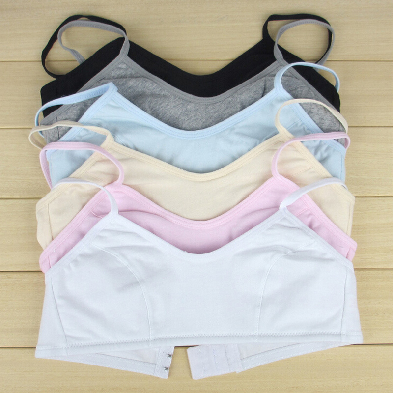 2018 Adjust Bra Small Training Bra Cotton Underwear Sleeping Vest Bra For Girls Kids Bra SN0004 目