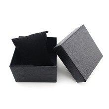 Бумага часы коробка для Для женщин Для мужчин Наручные часы Лидер продаж цвет: черный, синий красный чехол Наручные часы Подарочная коробка и 03