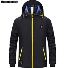 Mountainskin 4XL Spring Men s Pilot Jacket Casual Solid Men s Jacket Hooded Stand Collar Male