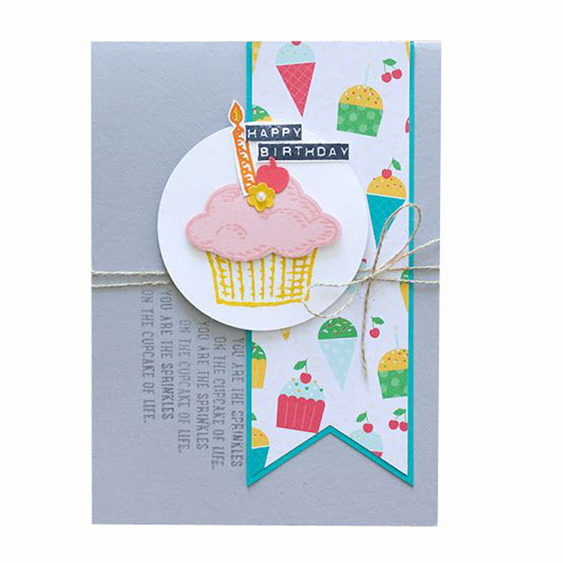 Cute Cup Cake Shape Metal Cutting Dies for Scrapbooking DIY Photo Album Embossing Folder Paper Card Making Stencils Decoration in Cutting Dies from Home Garden