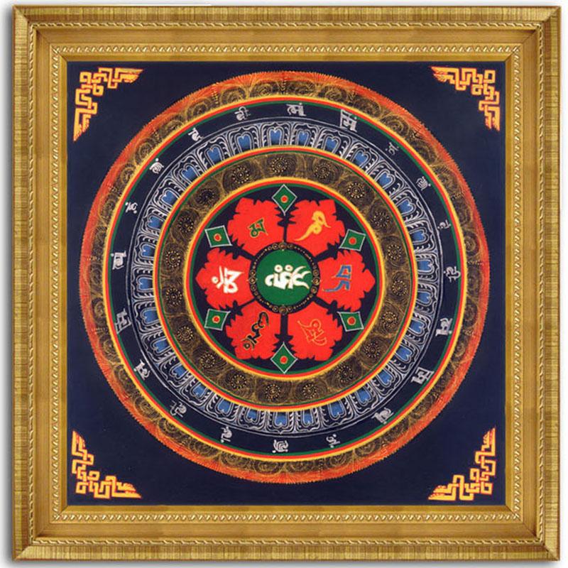 Moderno thangka pintura tibetana mandala fe de Buda óleo lienzo ...