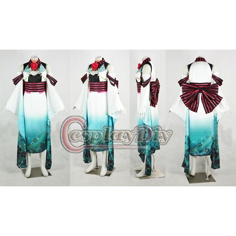 №El envío libre cosplaydiy azul kimono vocaloid anime traje miku ...